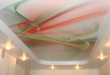Абстрактный рисунок универсален и может использоваться в любом современном интерьере