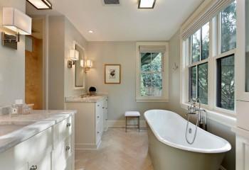 Отделка ванной комнаты влагостойкой краской