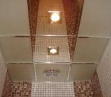 Кассетные потолки для ванной – типы материалов и немного о монтаже