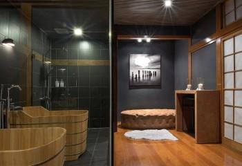 Освещение, встроенное в реечный потолок: стиль японский