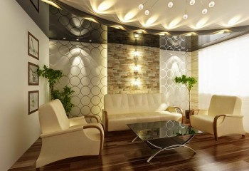 Грамотное потолочное освещение способно расширить пространство