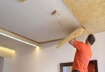 Фиксация звукоизолирующих материалов на потолок с помощью клея