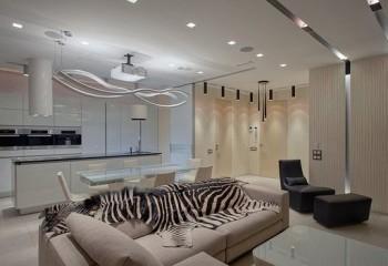 Дизайн потолков с точечными светильниками может быть самым разнообразным