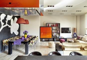Фьюжн: матовая потолочная плёнка отлично вписывается в современный интерьерный дизайн