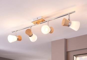 Благодаря возможности коррекции положения ламп, потолочный спот справится с освещением и без дополнительной подсветки