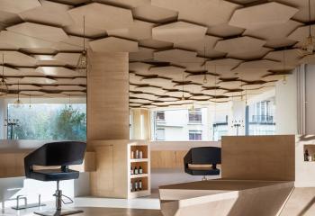 Потолок сотовый из фанеры