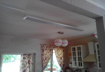 Инфракрасный потолочный обогреватель в интерьере