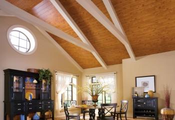 Подобные решения отлично подойдут для обшивки снизу скатов утепленной крыши