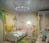 Натяжные потолки в детской – разновидности и особенности материала