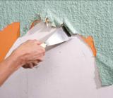 Как снять обои с потолка из гипсокартона