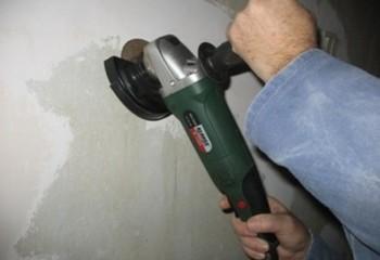 Удаление краски со стен с помощью УШМ