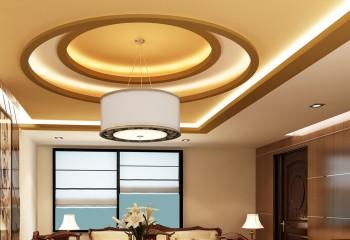 Многоуровневый подвесной потолок требует много пространства