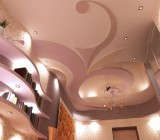 Узоры на потолке из гипсокартона: варианты оформления