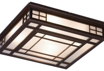 Потолочный накладной светильник в японском стиле