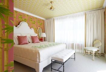 Теплая цветовая гамма в спальне