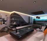 Дизайн натяжных потолков в гостиной: оригинальные конструкционные и цветовые решения