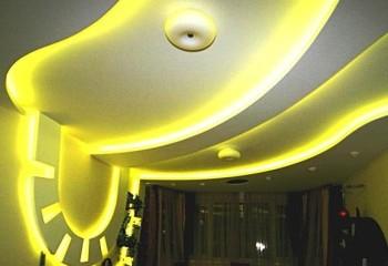 Подсветка многоуровневого потолка
