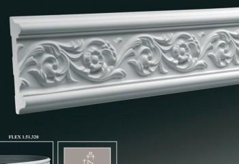 Декоративный багет с таким сечением можно монтировать как на потолок, так и на стену – например, для обрамления панно