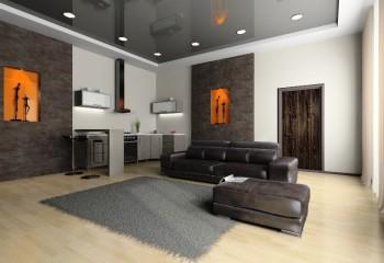 Даже потолки серого цвета смотрятся красиво и нарядно