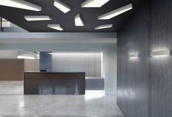 Накладные потолочные дизайнерские светильники с люминесцентными лампами