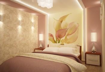 Обилие света украшает любые поверхности, в том числе и гипсокартонные