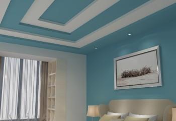 При покраске гипсокартонного потолка можно проявить смекалку