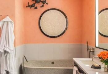 Лакокрасочные материалы можно успешно применять и на стенах - фото