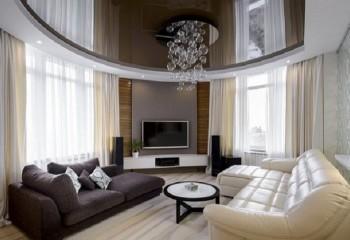 Комбинированные натяжные потолки: варианты на все вкусы