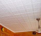 Как клеить потолочную плитку без швов правильно