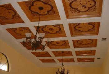 Кессонные потолочные панели из фанеры