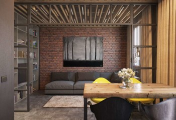 Динамичность поверхности потолка усилена лампами накаливания