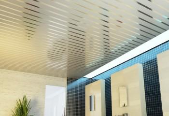 Открытый потолок со вставками