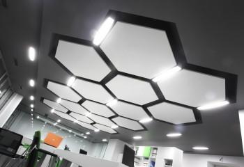Дизайнерская система с панелями шестигранной формы