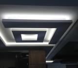 Неоновая подсветка потолка — от подготовки до конечного результата