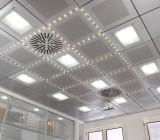 Потолок металлический: секреты кассетных конструкций