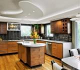 Дизайн потолков из гипсокартона на кухне: конструктив и варианты финишной отделки