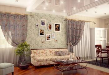 Потолок с выступающей фигурой компактизирует пространство: комбинация с натяжным полотном