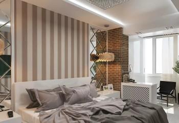 Квартира с высокими потолками: неоновые лампы, скрытые в потолочной нише, плюс подсветка отдельных зон встроенными и подвесными приборами