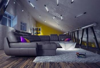Оригинальный дизайн потолочных светильников из люминесцентных ламп