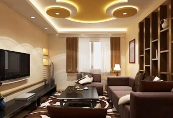 Потолок сложной конфигурации с внутренней подсветкой