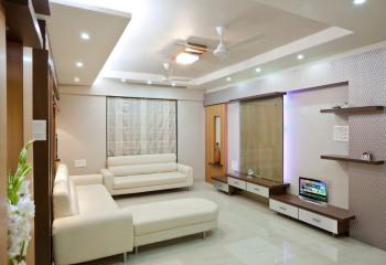 Объем светового потока в помещении в основном создан точечным освещением