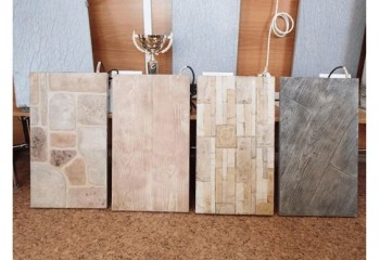 Декоративные панели из искусственного камня с кварцевым нагревательным элементом