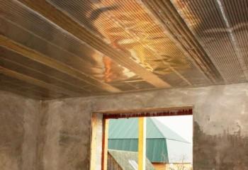 Укладка пленочного ИК-нагревателя на потолок