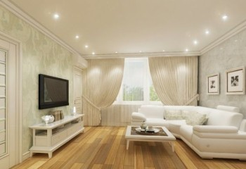 Светильники потолочные встраиваемые в интерьере гостиной