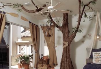 В походе: стилизация комнаты и декорирование потолка