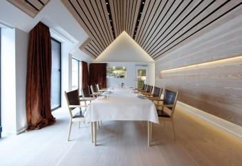 Реечный потолок на мансарде