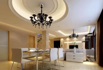 Дизайнерские люстры подчеркивают стиль гипсокартонной конструкции