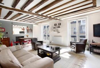 Декоративные балки на гипсокартонном потолке: стиль французский