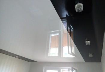 Комбинированный натяжной потолок прямой спайки