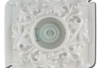 Такой софит можно своими руками встроить в лепнину на потолке